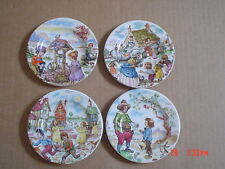 Royal Worcester Palissy Petite Collection 4 x Decorative Plates Norman Meredith