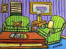 BORDER terrier dog  art print animals impressionism artist 8x10 new