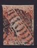 NSW RARE 1854 1d Orange Vermilion QV LAUREATE USED SG 83 (HL247)