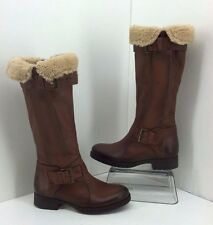 "Manas ""Rainia"" Fur Shearling Tall Brown Boots. Size 36 (Approx 5.5 )"