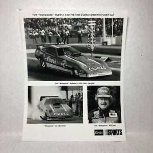 VTG Tom Mongoose McEwen Coors Beer Corvette Funny Car Handout 1986 Coors Sports