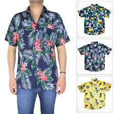 Camicia Uomo Floreale Fiori Hawaiana Casual Mezza Manica Manica Corta VEQUE
