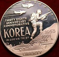 Uncirculated Proof 1991 38th Anniversary of Korean War Silver US $1