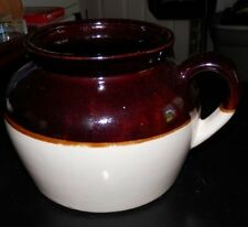 U.S.A. Brown & Cream Pottery Crock or Jug with Handle
