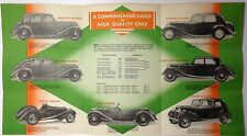 ✇ Original Prospekt RILEY Automobile um 1938 Großformat - rare big brochure