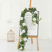 2m Artificial Garland Silk Flowers Eucalyptus Vine Ivy Home Wedding Party Decor
