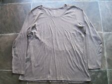 BNWNT Women's Plus Size Grey Organic Cotton Long Sleeve Top Size 20