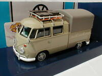"MotorMax 79553 # Volkswagen VW Type 2 T1 DoKa Pick Up in "" hellgrau "" 1:24 NEU"