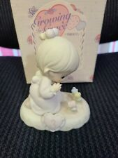"""Precious Moments Growing In Grace """"Girl With Flowers� Age 3 In Box"""