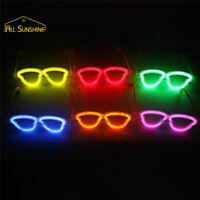 Paire de lunettes lumineuses fluo coeur bâton fluorescentes fête mariage soirée