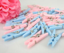 Small Clothes Pins Baby Shower Clothespin Favors Pink Girl Blue Boy Party Game