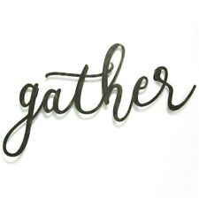Gather Typography Hanging Interior Wall Art Home Decor