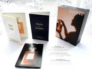 CHANEL 3 samples BLEU DE CHANEL EDP, COCO MADEMOISELLE EDP INTENSE, L'Eau Privée