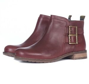 Womens Barbour Sarah Low Buckle Boot Leather Walking Casual Fashion Ankle Boots