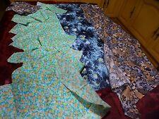 patchorck  lot petits travaux tissus verts ,bleu noir  et beiges