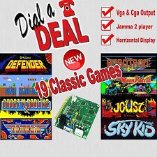 19 in 1 JAMMA ARCADE Board Defender/Robotron/Super Mario Bros ecc.