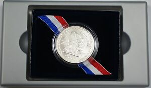 2000 Leif Ericson Silver Commemorative Uncirculated $1 Coin in Box US Mint