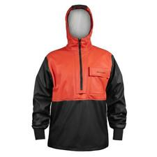 Orange Grundens Neptune 103 Anorak Pullover Jacket Commercial Fishing Rain Gear