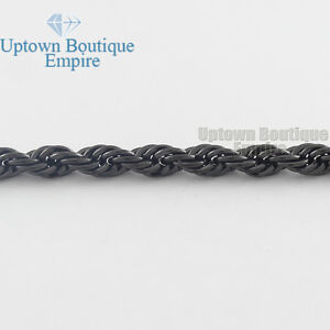 """Men Women's Stainless Steel 2/3/4/5mm Rope Necklace Chain 18-36"""" Link"""