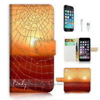( For iPhone 7 Plus ) Wallet Case Cover P1210 Spider Net
