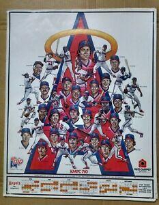 1981 Angels Schedule Poster