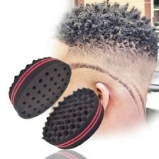 Black Double Sided Barber Hair Sponge Brush Dreads Coil Afro Curl Wave Tool HOT