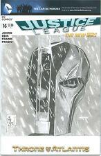 1)JUSTICE LEAGUE #16(3/13)BLANK CVR-w/DEATHSTROKE SKETCH(BATMAN/SUPERMAN)CGC IT!