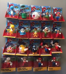 "Jakks World Of Nintendo 2.5"" Figures:  Select Mario, Luigi, Yoshi *NEW Wave"