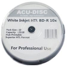 20x BD-R ACU-Disc Blu-Ray Vitesse 10X Blanc Jet D'encre Imprimable Disques 25 Go-Pack de 10