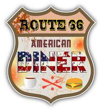 "American Dinner Route 66 Car Bumper Sticker Decal 5"" x 5"""