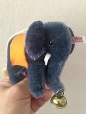"STEIFF 2007 Club Blue Mohair Hanging Elephant 3.5"" Tall  - LtdEd 420603 - MUST C"