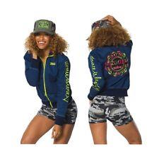 Zumba Denim Zip Up Mash Up Jacket Large  NEW  Rare!!