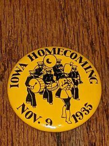 Rare Iowa Hawkeyes 1935 Football Homecoming Pin back