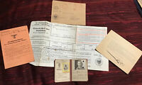 WWII Wehrpass, Route Pass Documents, Etc - Original Documents of German Soldier