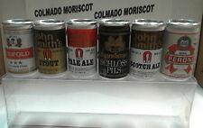 BEER CERVEZA FULL 6 MINIATURE CANS VINTAGE SET (A) size pack: 17cm x 5cm x 3cm