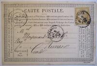 Frankreich, Postkarten-Vorläufer 1876 aus Chamond (50973)