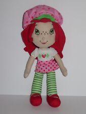 "15"" Strawberry Shortcake Cloth Rag Doll Plush Stuffed Toy Nanco Figure Dress Hat"