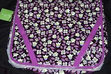 VERA BRADLEY FRILL messenger bag NEW vinyl fabric PLUM PETALS Purple Backpack
