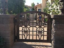 Metal Gate Custom Urban Entry Walk Thru Pedestrian Garden Iron Art Ornamental