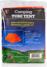 New Emergency Camping Survival Lightweight Tube Tent Orange 8 Foot