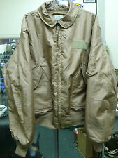 US MILITARY NOMEX FLYER'S JACKET COLD WEATHER CWU 45/P LARGE TAN NEW