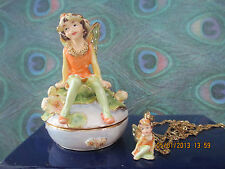 Your Fairy Godmother ~ Bejeweled Trinket Box & Necklace #62384