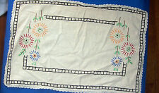 Lot 2 Vintage Radio Scarves Embroidered Floral Design