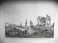 Anzeigen der Gräber -vw Lang Via Appia, Castelli Romani, ROM