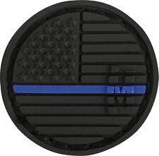 PVC Patch MAXPEDITION USA FLAG - MICRO circle L.E. THIN BLUE LINE hook backing