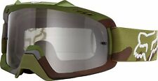Fox Racing Youth Kids Air Space Green Camo Clear MX MTB Off Road Goggles