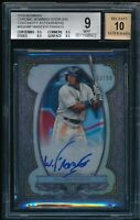 BGS 9/10 WANDER FRANCO AUTO 2019 Bowman Chrome Sterling Refractor #/99 RC MINT