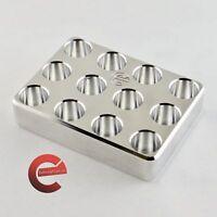 Billet aluminum organzer tray for RCBS bullet puller collets