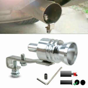 Blow Off Valve Noise Turbo Sound Whistle Simulator Muffler Tip Silver 18mm