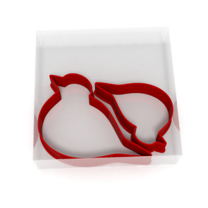 Robin Cookie Cutter Set Of 2 Biscuit Dough Icing Shape Cake Christmas Bird UK v2